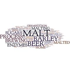 The malt of beer text background word cloud vector