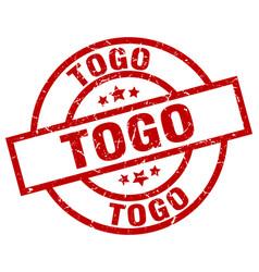 Togo red round grunge stamp vector