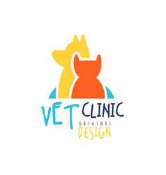Vet clinic logo template original design badge vector