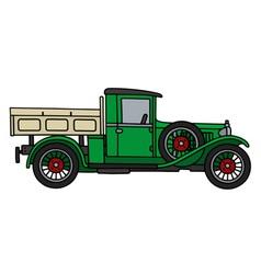 Vintage green truck vector image