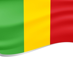 Waving flag of Mali isolated on white vector image vector image