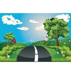 Way Through Nature vector image