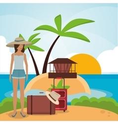 vacations paradise island travel vector image