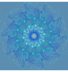 Sacred geometry cosmic mandala vector