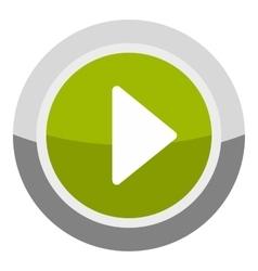 Play round button icon cartoon style vector