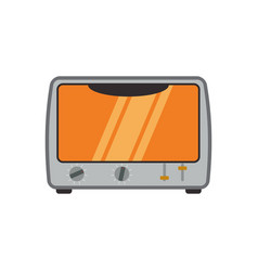 Electric oven household appliance vector