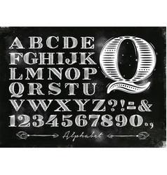 Vintage alphabet chalk vector
