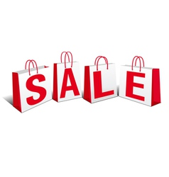 Shopping Bags SALE Bags vector image