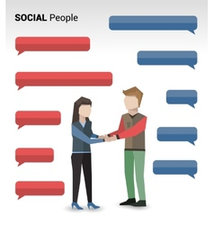 Social people print vector