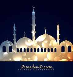 Beautiful shiny mosque vector