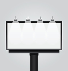 Empty billboard signsignboard modern banner vector