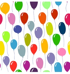 Bright colored ballons background seamless pattern vector