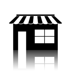 Shop icon over white background vector