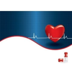 Concept of medical problem with heart vector