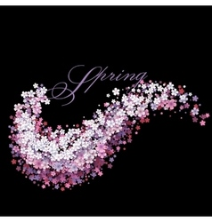Tender background with flower wave vector