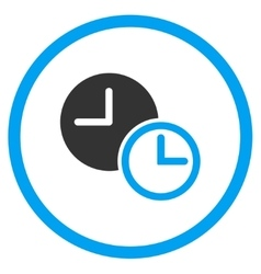 Clocks rounded icon vector