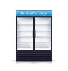 Two panels empty fridge realistic vector