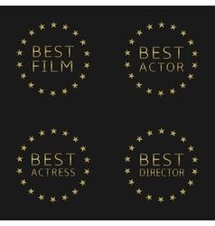 Best film labels vector