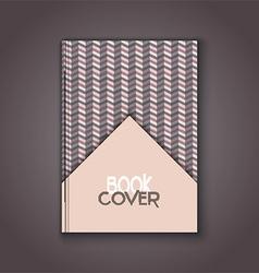 retro book cover 0104 vector image