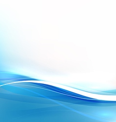 Abstract background with transparent blue wave vector