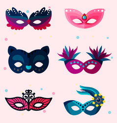 authentic handmade venetian painted carnival face vector image