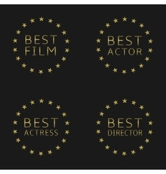 Best film labels vector image vector image