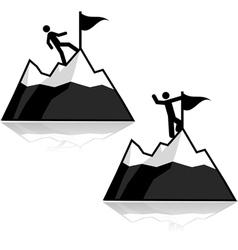 Climbing icons vector