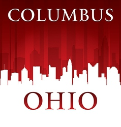 Columbus Ohio city skyline silhouette vector image