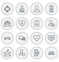 Communication icons set collection of significant vector