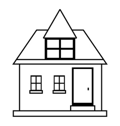 Cute country house icon outline style vector