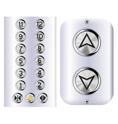 Elevator buttons vector