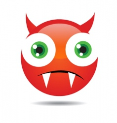 evil icon vector image vector image