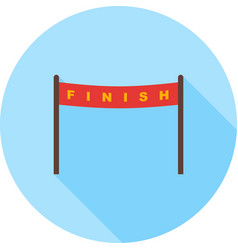 finish line vector image