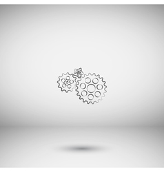 Flat paper styled icon of cogs vector image vector image