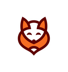 fox abstract sign vector image vector image