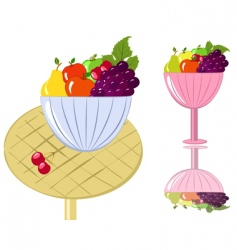 fruit bowl vector image vector image