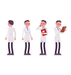 Male scientist standing vector