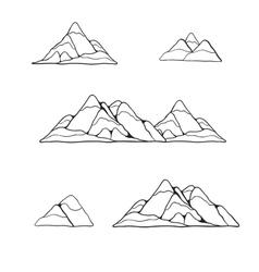 mountain set vector image