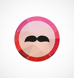 mustache circle pink triangle background icon vector image vector image