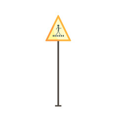 Pedestrian crossing traffic sign vector