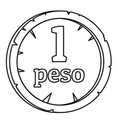 Peso icon outline style vector