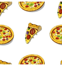 Pizza seamless vector image vector image