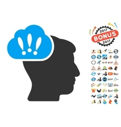 Problem brainstorm icon with 2017 year bonus vector