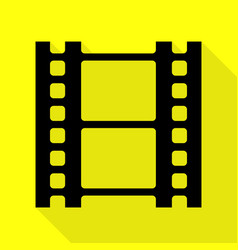 Reel of film sign black icon with flat style vector