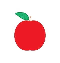 Sign flat apple 3707 vector image