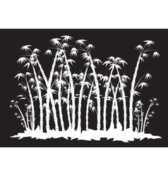 Silhouettes of bamboo forest vector image