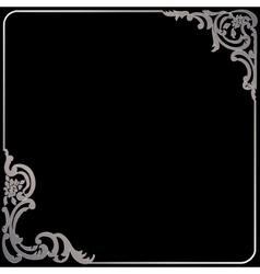 Silver vintage frame vector
