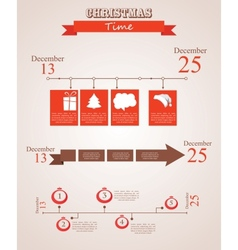 Three christmas season time line templates with vector