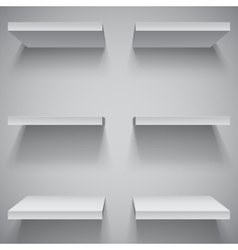 White shelves vector