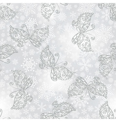 Winter seamless silvery spotty pattern vector image